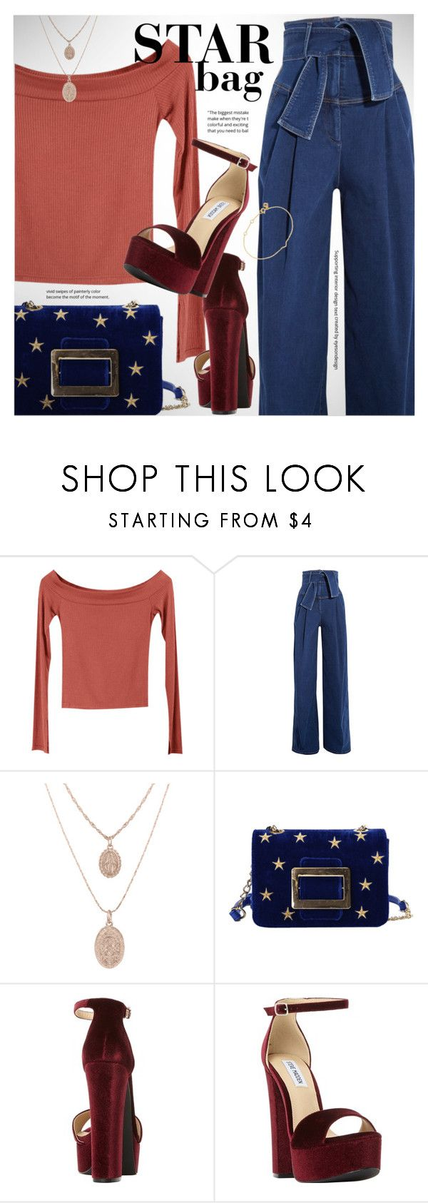 """""""Star bag"""" by vn1ta ❤ liked on Polyvore featuring Sara Battaglia, Steve Madden, Maya Magal and vintage"""