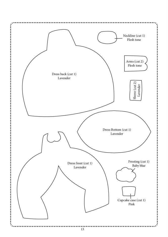 felt doll pattern | Feltro | Pinterest