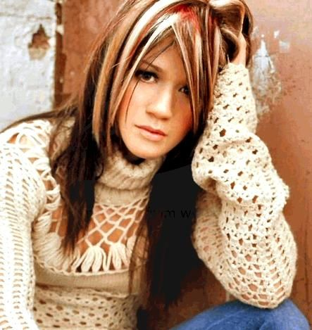nice contrast.: Hair Ideas, Kelly Clarkson, Red Hair, New Hair Colors, Blondes Highlights, Hair Style, Brown Hair, Fall Hair, Red Highlights
