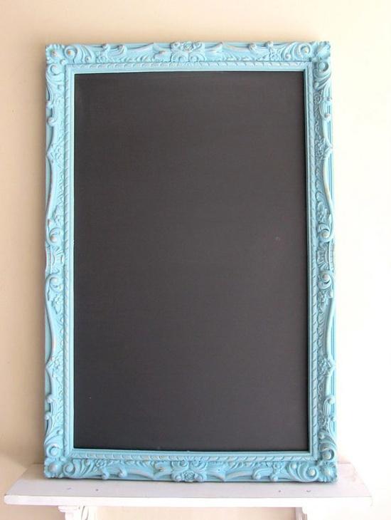 Teal Chalkboard Memo Board Magnetic Wedding Menu Sign