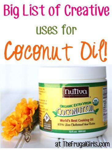 Looking for some creative ways to use Coconut Oil? Check out this BIG List of Creative Ways to Use Coconut Oil, shared by your frugal friends right here and on The Frugal Girls Facebook page... Dan...