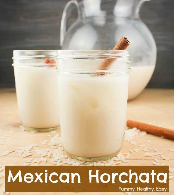 Yummy. Healthy. Easy.: Mexican Horchata ~ Delicious Rice & Cinnamon Drink