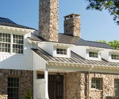 exposed rafter tails exterior farmhouse with standing seam metal roof c metro door dealers and installers