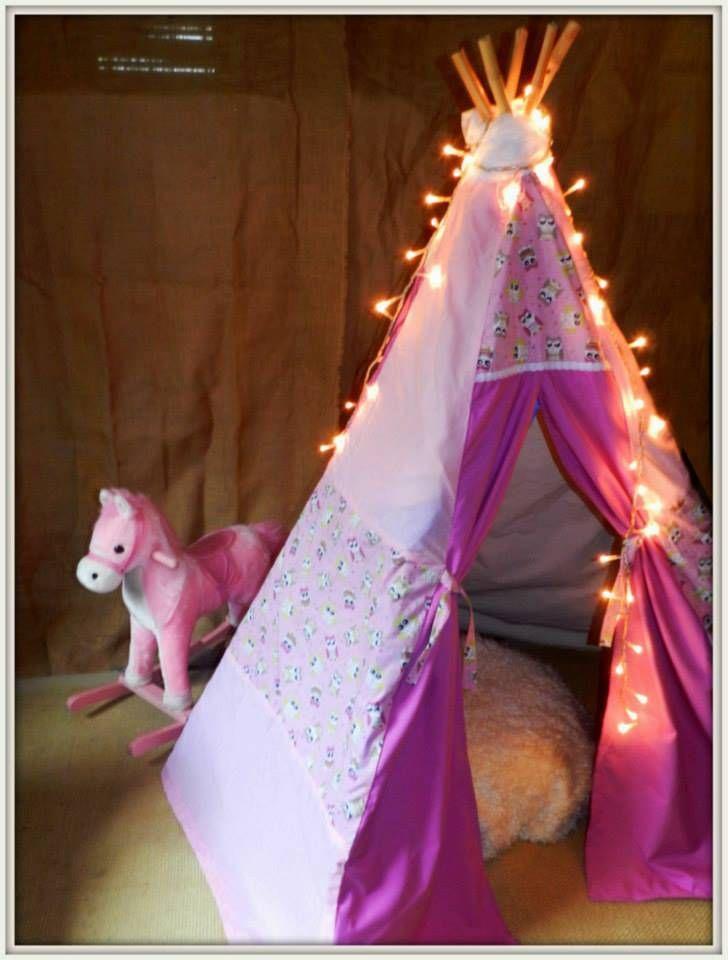"""Handmade teepee """"pink owl"""""""