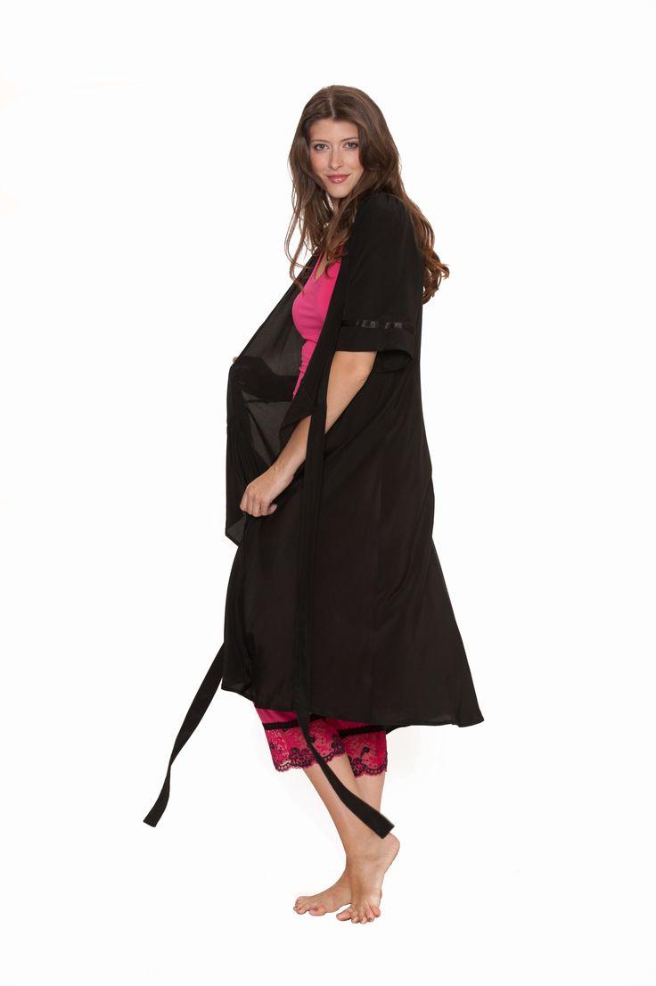 #sexy #pyjamas #chemise #christmas #sexy #lingerie #sleepwear #present #black #black #robe
