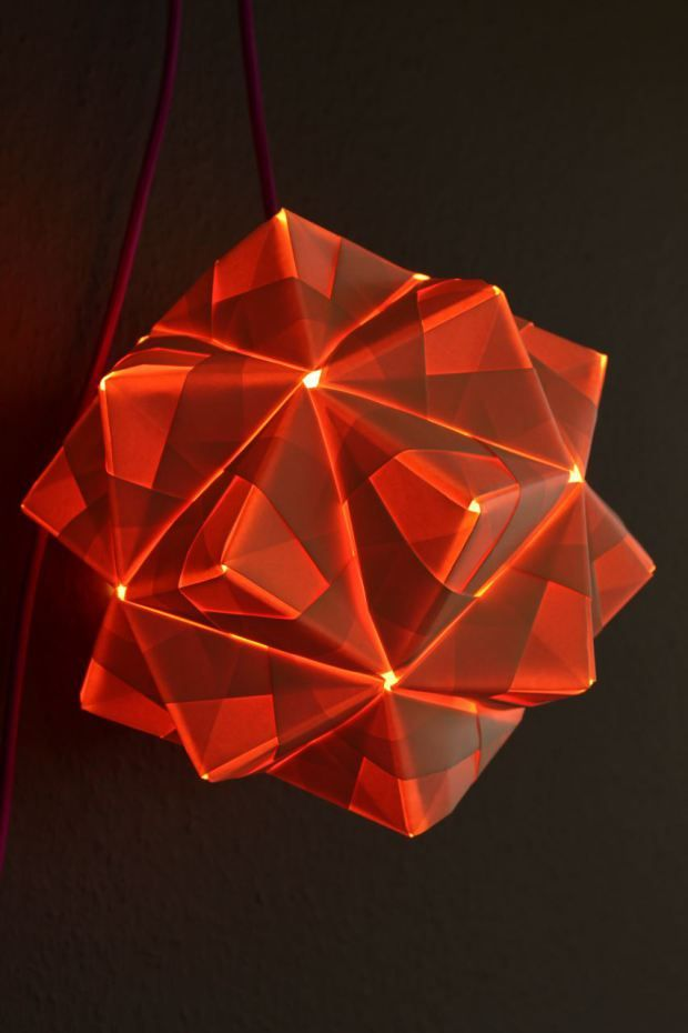 Sonobe Triambic Icosahedron Ball - Lampen Anleitung