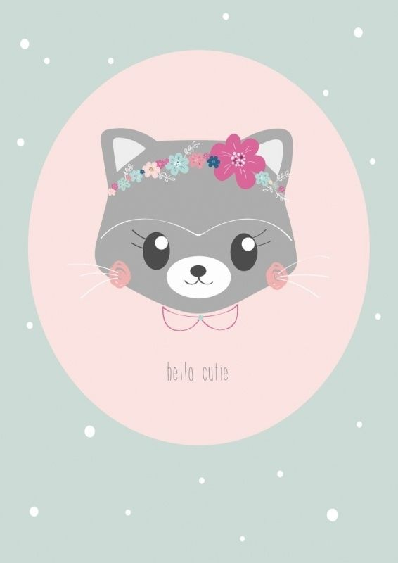 Petite Louise | Ansichtkaart Hello Cutie