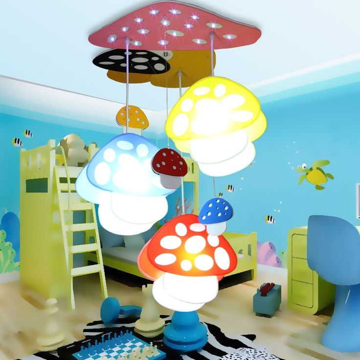 179.00$  Watch here - http://aliq9f.shopchina.info/1/go.php?t=32813105959 - Children lamp Led cartoon Pendant Lights mushroom light bedroom kindergarten children in activities dome pendant lamps  #magazine