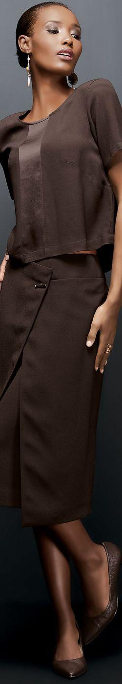 Madeleine Brown Skirt and Top