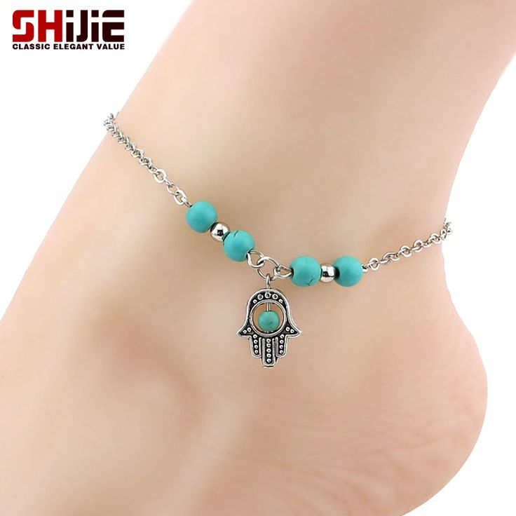 SHEEGIOR Lovely Pendants Turquoise Bracelets Women Mens Beads Chain Bracelet Friendly Fashion Accessories