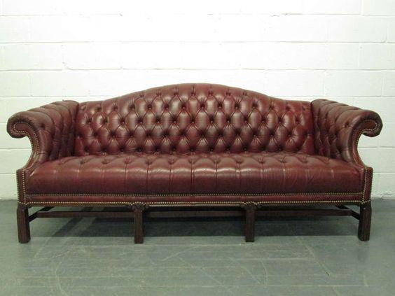 Unglaubliche Camelback Leder Sofa Chesterfield Leder Sofa