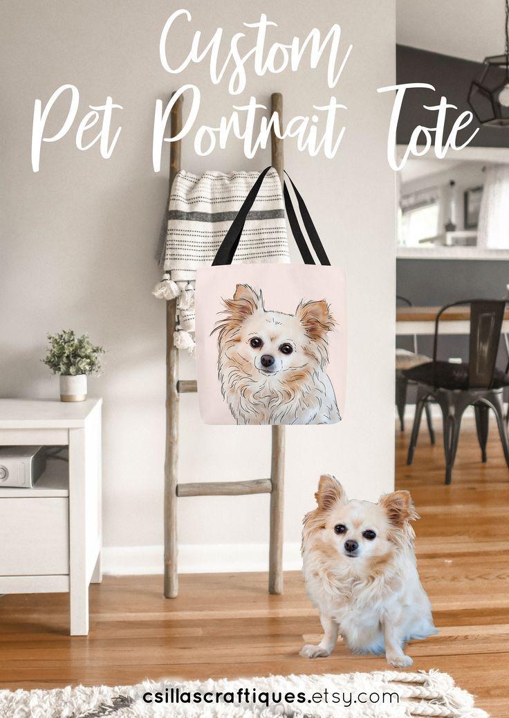 Custom Dog Lover Tote Handbag Birthday Gift Shoulder Bag New Owner Idea Personalize Yours Here Puppy Doglover Newdog