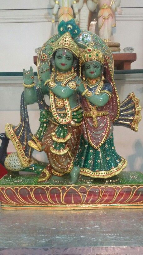 Green Zade Radha Krishna