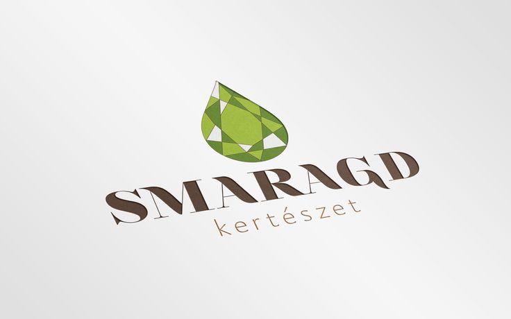 Szelényi Krisztina webdesigner hallgatóm logó terve a Smaragd Kertészetnek