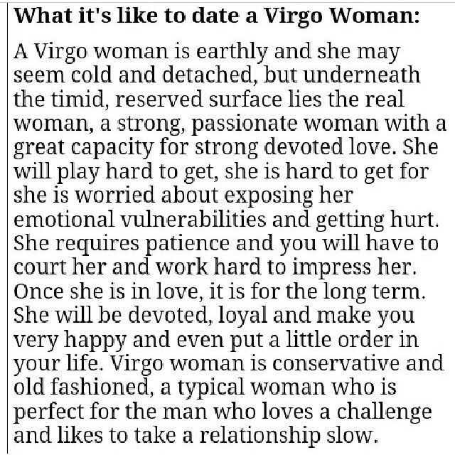 How to treat a virgo woman