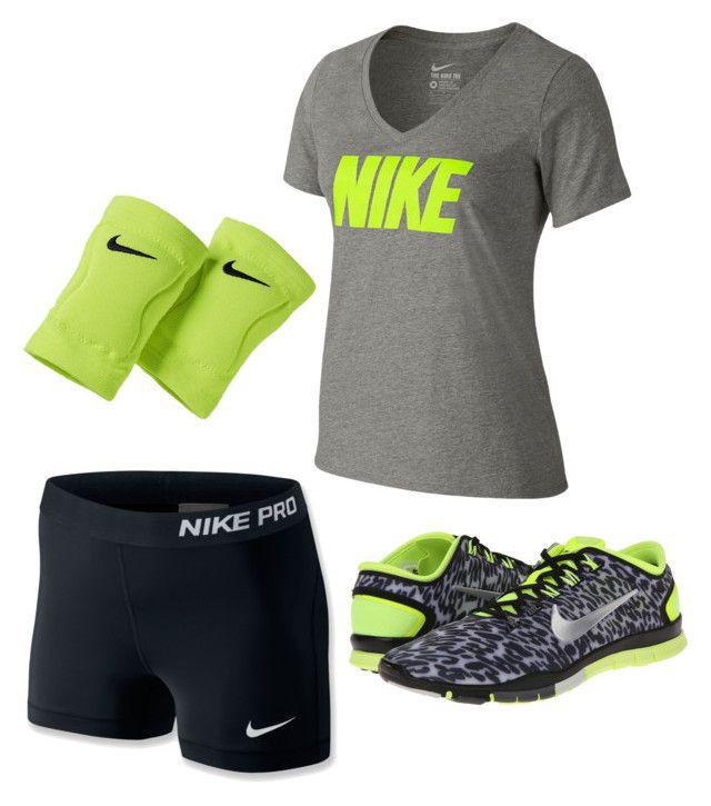 """Nike volleyball outfit"" by princess-halle-sage on Polyvore"