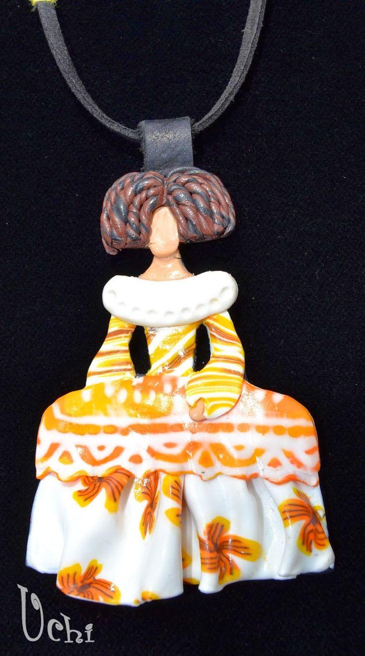 Menina amarilla- Arcilla polimérica, polymer clay | UCHI