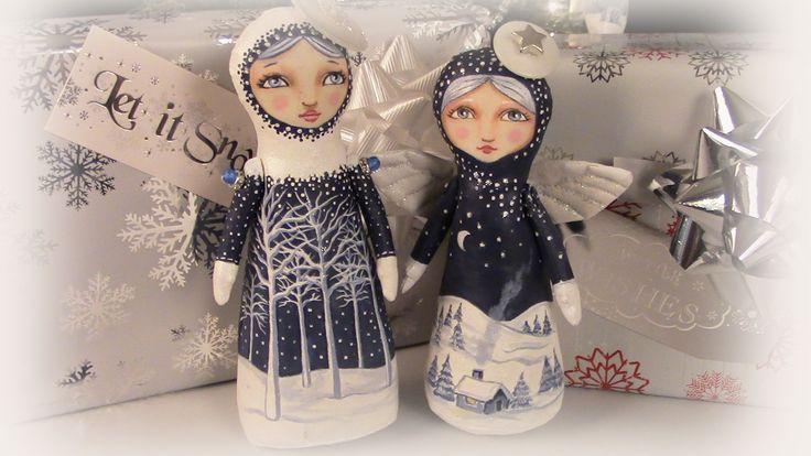 Folk Art stump dolls by Hally Levesque