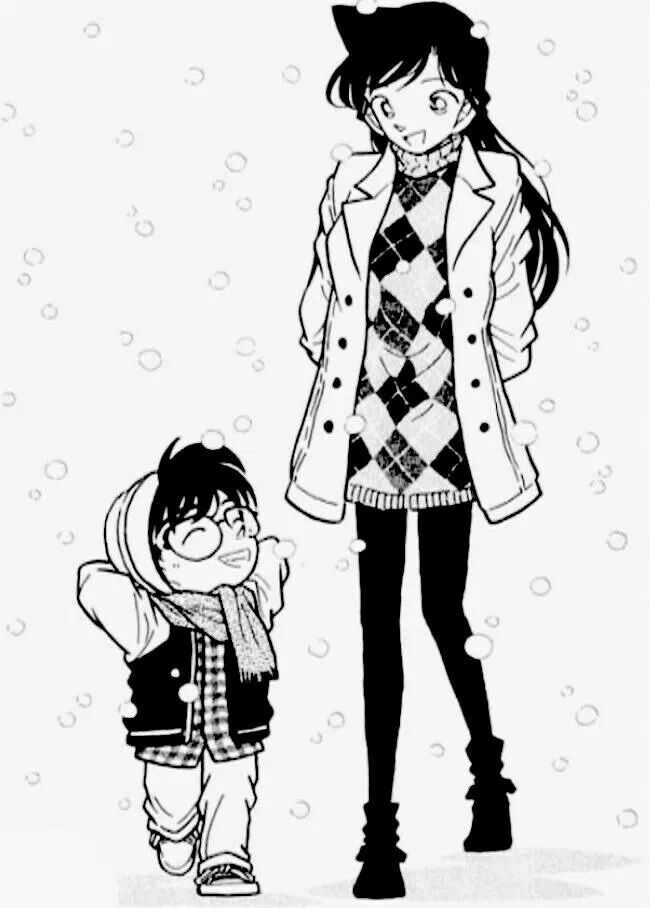 Edogawa Conan and Mouri Ran
