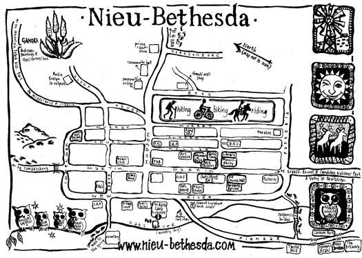 Nieu Bethesda Map