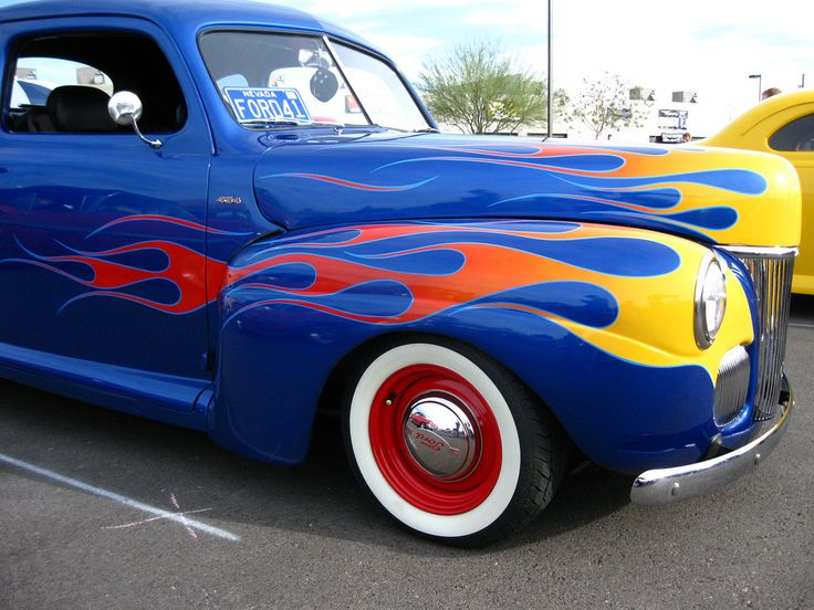 Best Custom Car Flames Classic Only Images On Pinterest