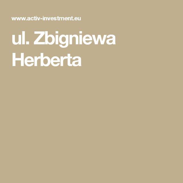 ul. Zbigniewa Herberta