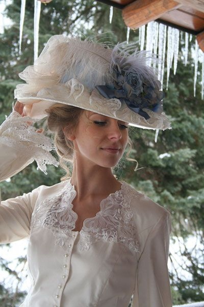 Did you know?  Ladies' hats were a part of life in the Victorian era, and no self-respecting lady or even servant would leave the house without having their head respectably covered. Women who gardened or lived in the countryside wore a wider-brimmed hat outdoors to protect themselves against the elements. Bonnets and hats were often lavishly trimmed. Bonnet ribbons were wide and were sometimes not tied but held in place with a brooch or pin under the chin, sometimes with a tiny bunch of…