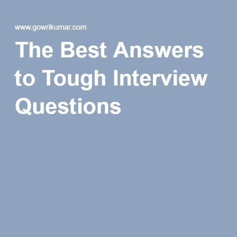 The 25+ best Tough interview questions ideas on Pinterest - customer service interview questions