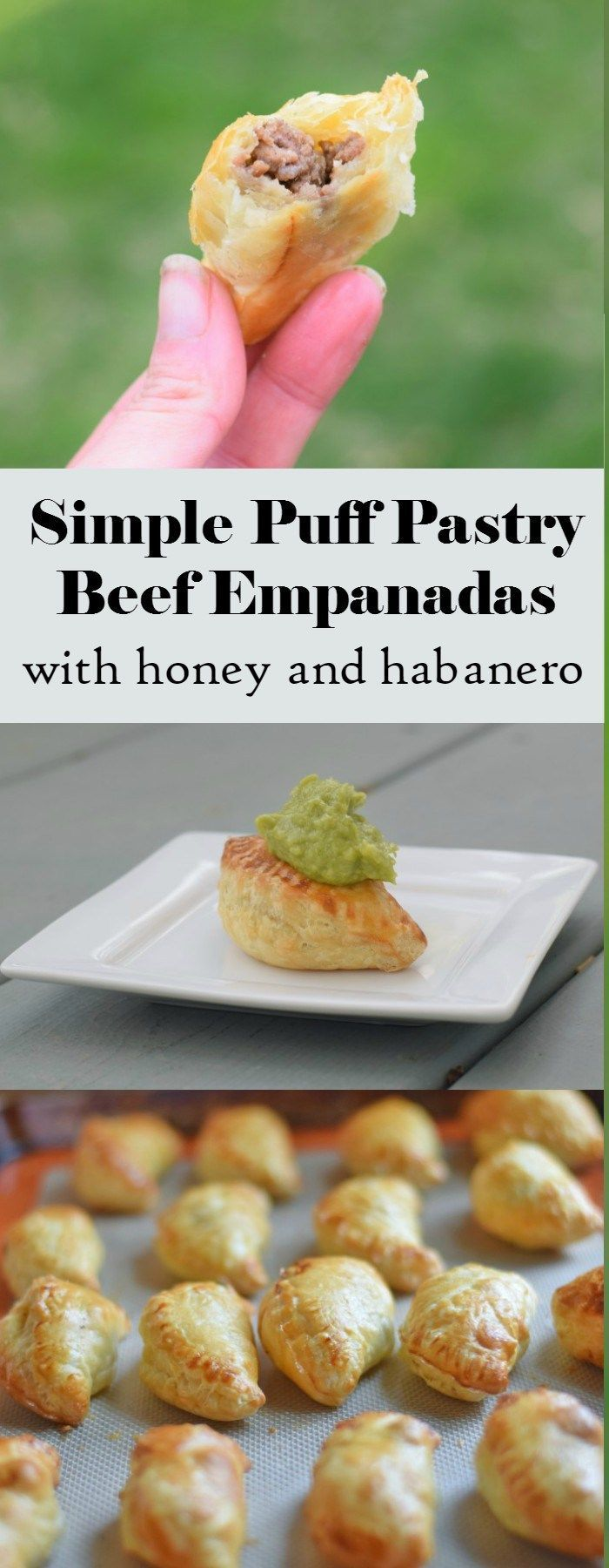 Delicious honey habanero homemade beef empanadas recipe using puff pastry. This easy appetizer is portable and has fantastic flavor for your summer picnics and more. AD #FlavorRocksNTL #KingOfFlavor