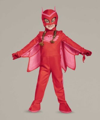 PJ Masks Owlette Costume For Girls - By day, Amaya's a regular friend and neighbor. At night, though, she wears special pj's to transform into Owlette, adventurer and crime-fighter!
