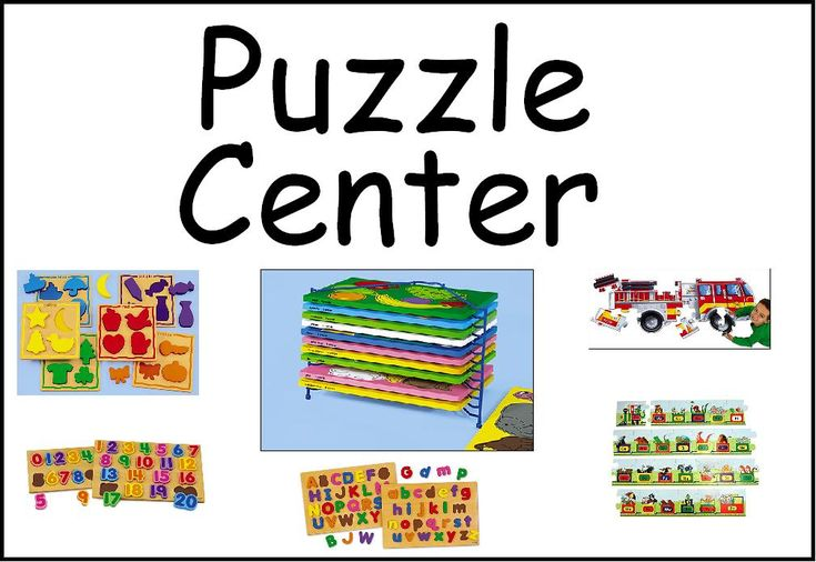Classroom Center Signs: free printable, lots of info for parents and day care providers