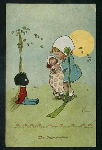Early Mabel Lucie Attwell Postcard With Golliwog THE INTRODUCTION Postmark 1912