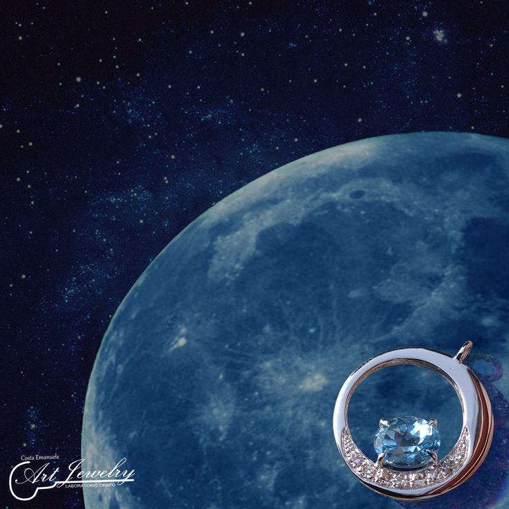 Blue Moon #sapphire #whitegold #jewels #artjewelry www.facebook.com/... Photo editing: Noemi Barolo