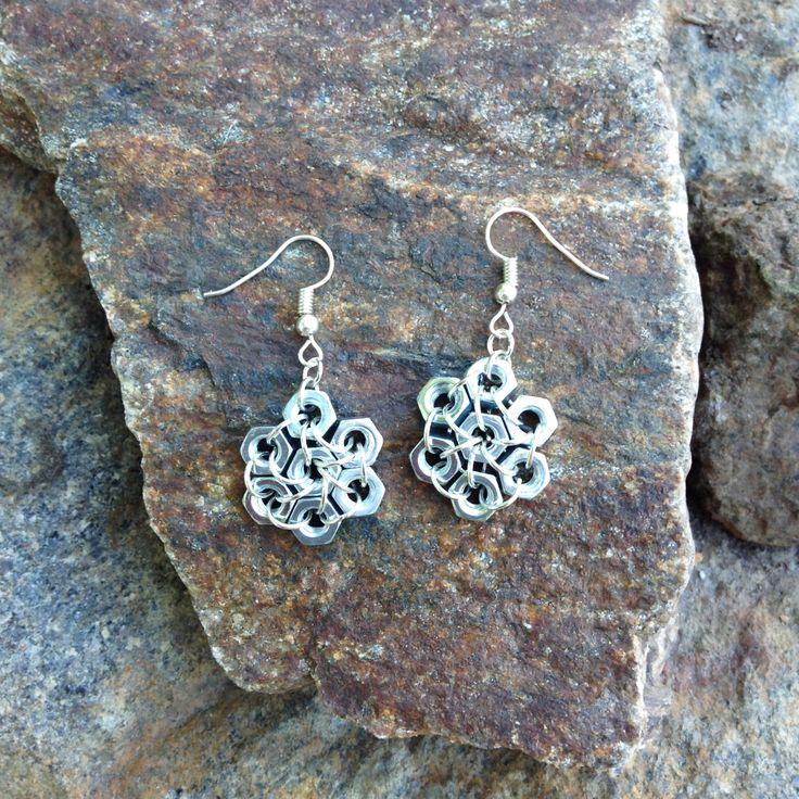 Nut earrings - hardware earrings - dangle earrings - hardware jewelry - unique nut earrings - gift for her by leonorafi on Etsy