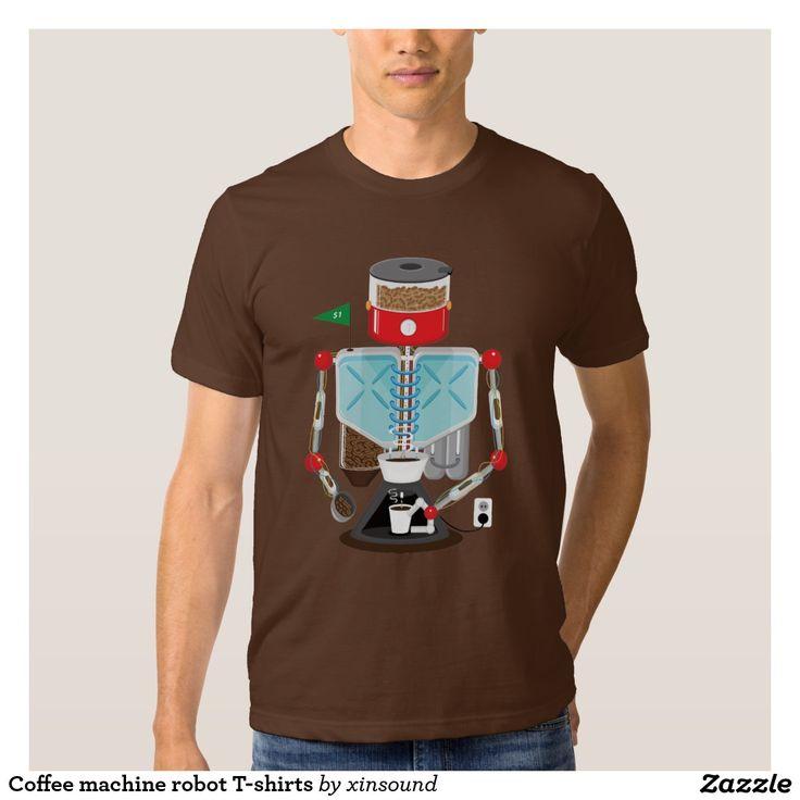 Coffee machine robot T-shirts
