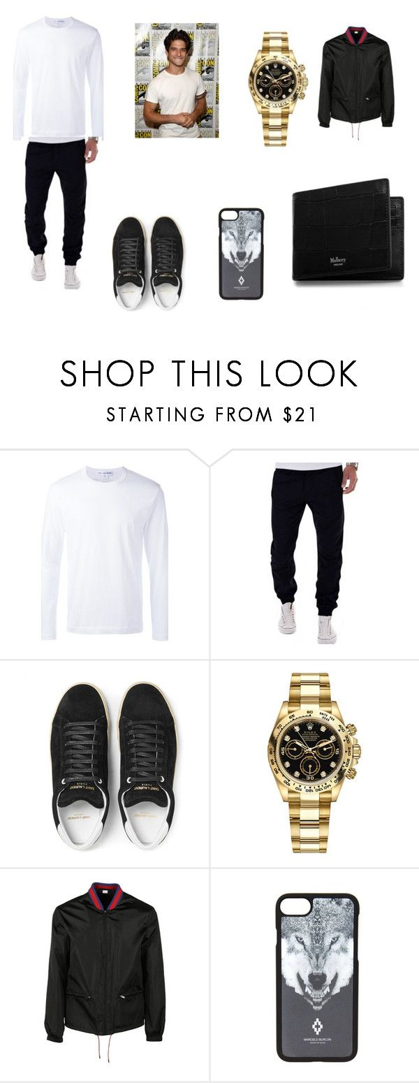"""Tyler Posey"" by sharonb331 on Polyvore featuring Comme des Garçons, Yves Saint Laurent, Rolex, Gucci, Marcelo Burlon, Mulberry, men's fashion and menswear"