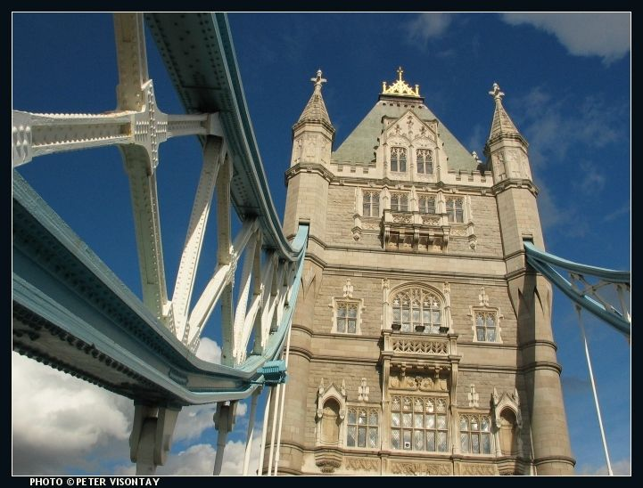 England Picture: Tower Bridge, as seen from the riverboat service from Westminster to Greenwich