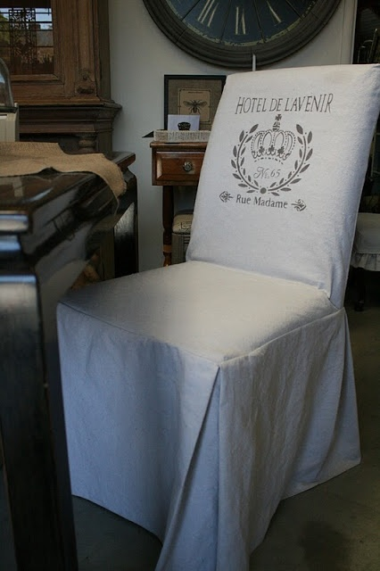 Make your own slip covers for dining room chairs....