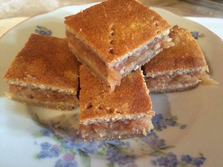 """Ti Küldtétek Recept (A recept beküldője:Osztheimer Gyöngyi)  Csökkentett szénhidráttartalmú,""""mindenmentes"""" almás pite        """"Mindenmentes"""" almás pite        Nem tartalmaz: glutént, tejet, tojást, magot, maglisztet, szóját, hozzáadott cukrot  ✔ Gluténmen"""