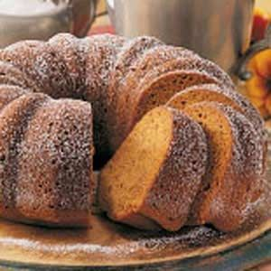 Moist Pumpkin Bundt Cake - This cake is perfect for fall. As it bakes, the aroma fills the house with a spicy scent.