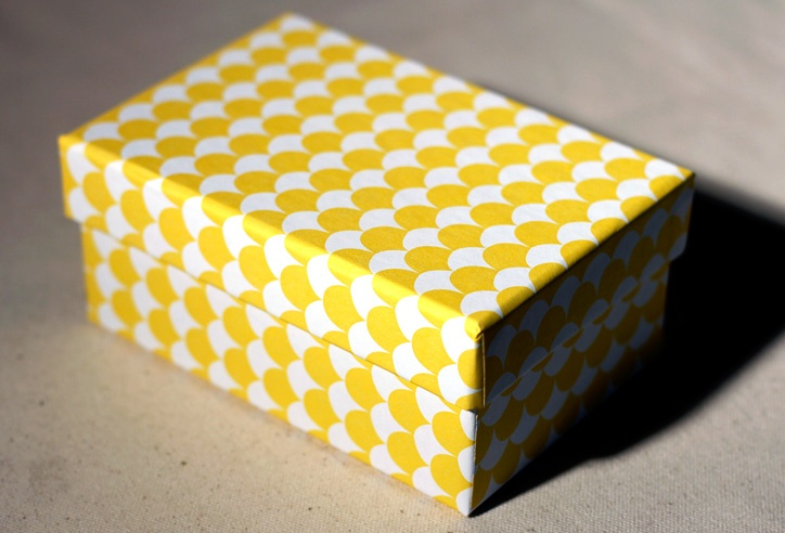pollen pattern covered gift box by smock