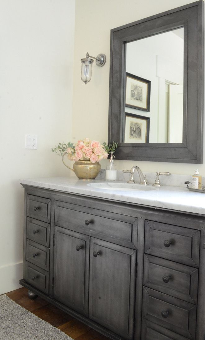 Restoration Hardware Zinc Vanity And Mirror Beautiful Homes Of Instagram SanctuaryHomeDecor