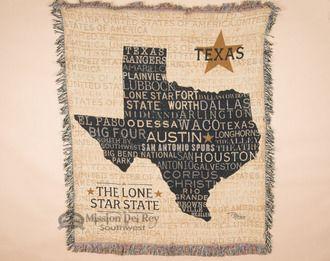 """Southwestern Throw Blanket 50""""""""x60"""""""" -Texas (st49)"""
