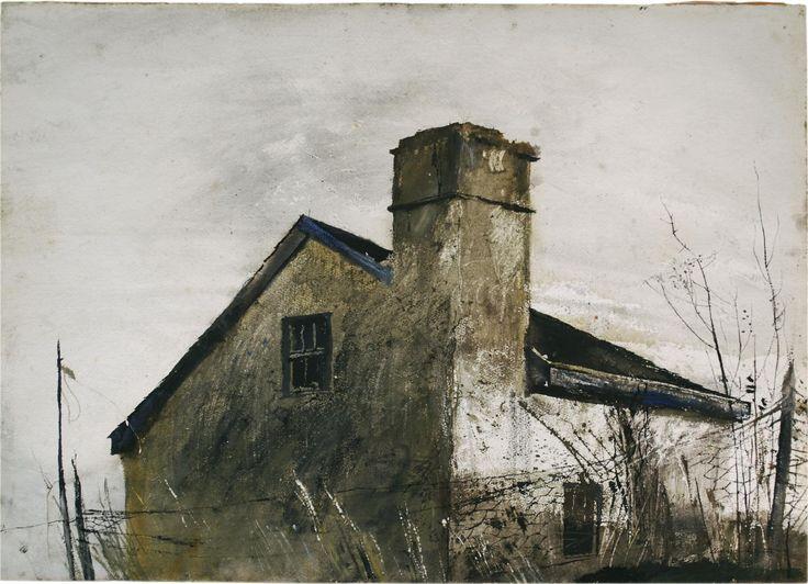 """φ.ΠΠΠ..φ """"House Near Chadds Ford"""" by Andrew Wyeth"""