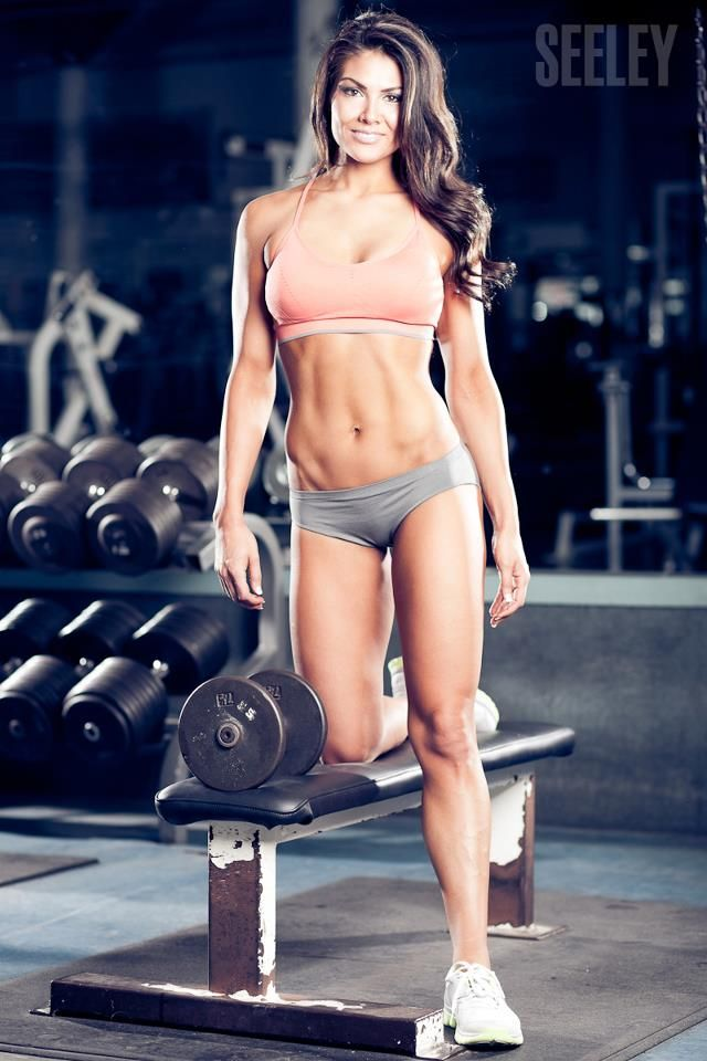 Fitness workout female model