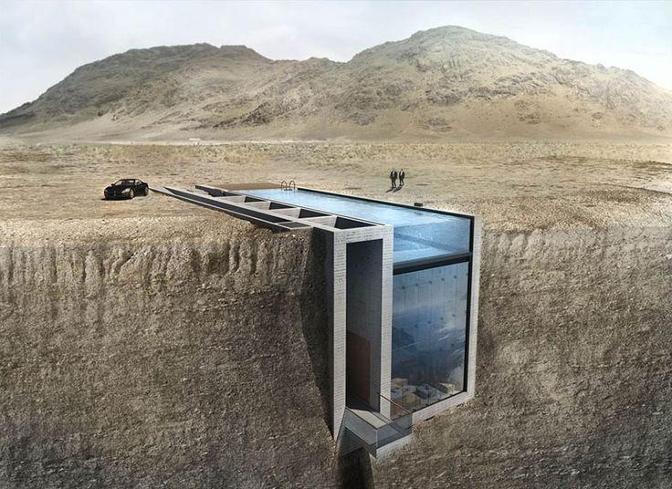 Cette maison cachée dans la falaise a une vue sublime sur la mer Égée
