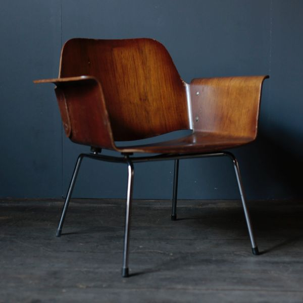 "Vintage ""Ply Chair"" Walnut by Saburo Inui for Tendo Mokko"