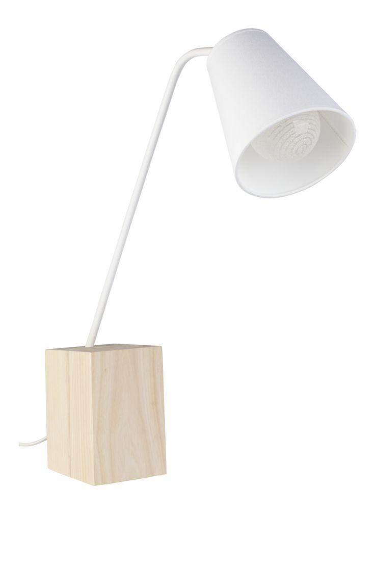 ALLETTE Lampes de table Blanc Bois