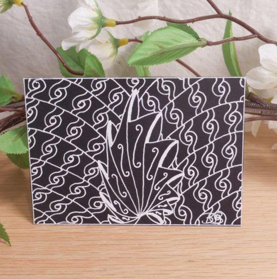 ACEO Shell Swirls Zen Tangle Art Card by Briana Blair