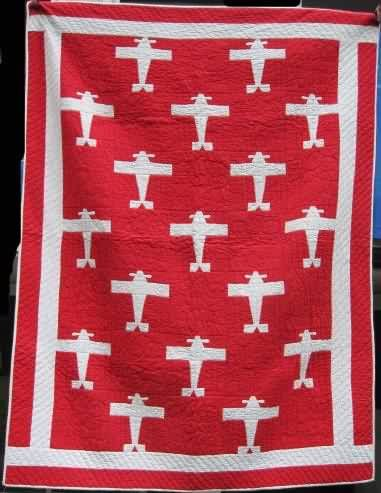 Airplanes - a vintage quilt for sale no details provided